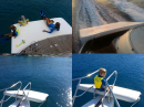 Extra deck space, yacht sun-pads, airtrack 4 water