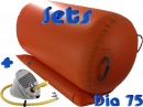75 cm AirRoll oranje & opblaasbare stabilizer pomp