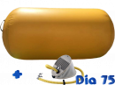 Gele AirRoll AirTrack barrel Airpump set 75cm Dia