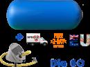 Air gymnast impuls cilinder Dia 60x120 cm blauw