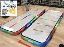 3m Rainbow AirTrack Unicorn gym track, miniblower