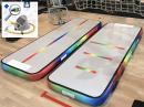 3m Rainbow Air Track Unicorn gym track, voetpomp