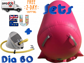 60 cm AirRoll incl inflatable stabilizer pink