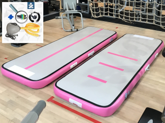 3m pink AirTrack Air Track gym track & mini-blower