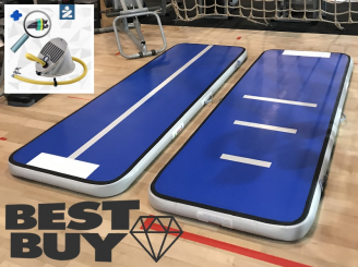 3m 10cm blue AirTrack Air Track gym floor voetpomp